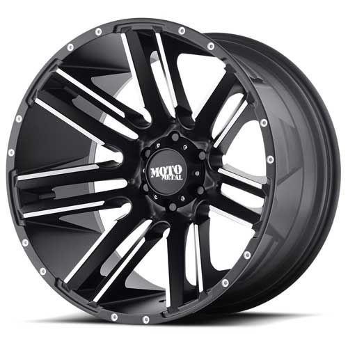 20x10 6x5.5 4.56BS MO978 Razor Black - Moto Metal Wheels