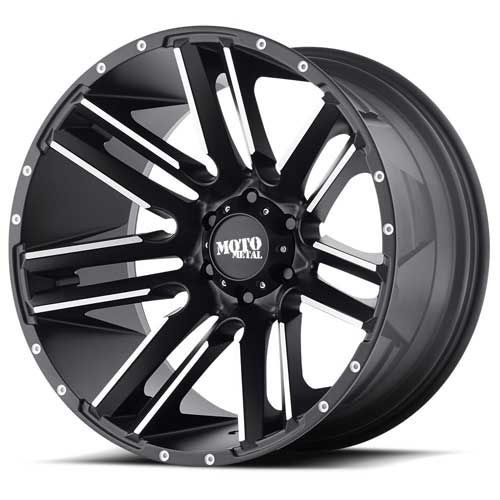 20x12 6x5.5 4.77BS MO978 Razor Black - Moto Metal Wheels