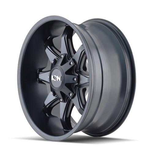 17x9 5x4.5/5x5 5.75BS Type 181 Satin Black Milled Spokes - Ion Wheel