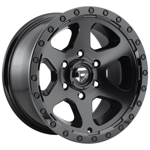 17x9 6x5.5 4.5BS D589 Ripper Matte Black w/ Gloss Blk - Fuel Off-Road