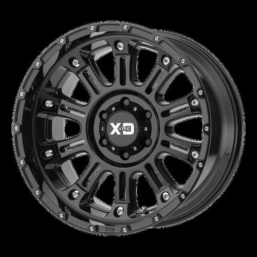 17x9 6x5.5 4.53BS XD829 Hoss II Gloss Black - XD Wheels