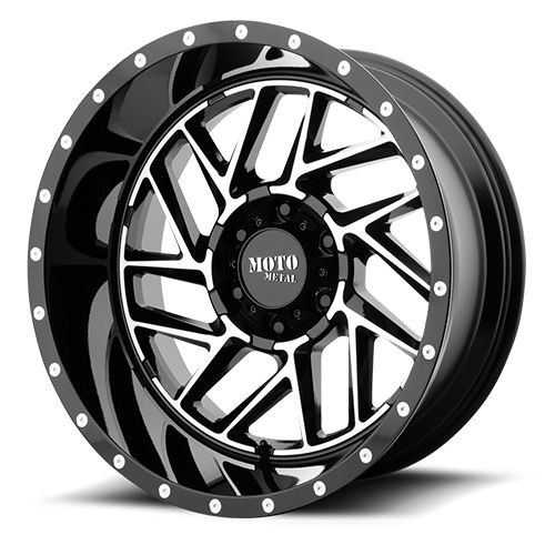 20x9 6x5.5 5.71BS MO985 Breakout Gloss Black Machined - Moto Metal Wheels