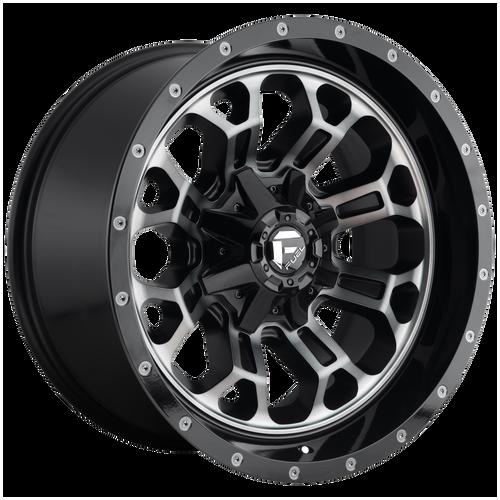 18x9 5x5.5/5x150 5BS D561 Crush Matte Blk Mach - Fuel Off-Road