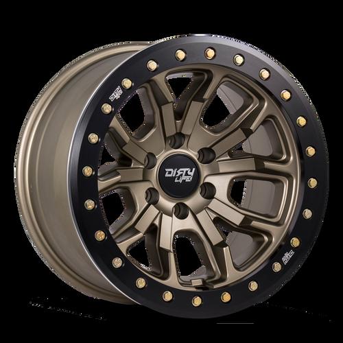 17x9 6x5.5 4.53BS Dt1 Matte Gold - Dirty Life Wheels