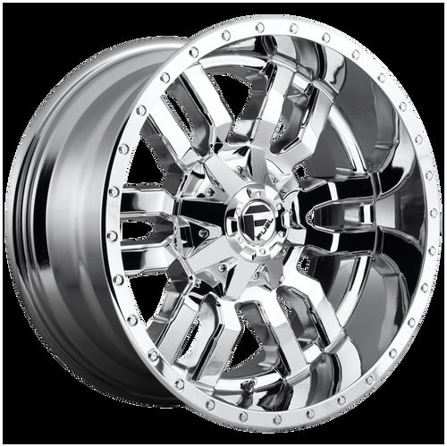 22x10 8x180 5.80BS D631 Sledge Chrome - Fuel Off-Road