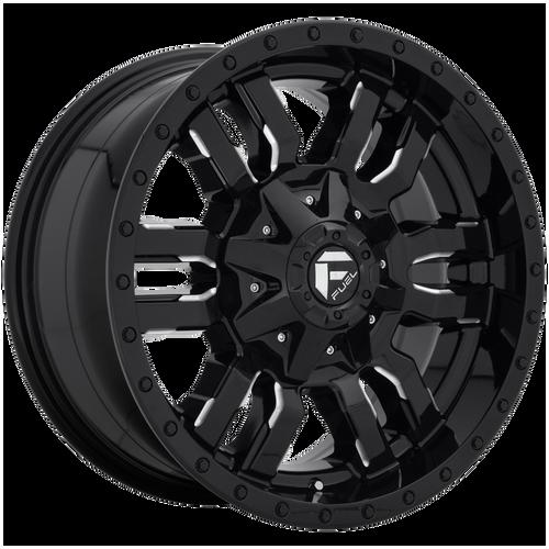 26x14 8x170 4.5BS D595 Sledge Gloss Black Milled - Fuel Off-Road