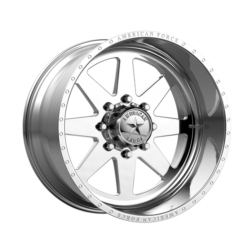 22x12 8x6.5 4.93BS Independence SS Polished - American Force Wheels