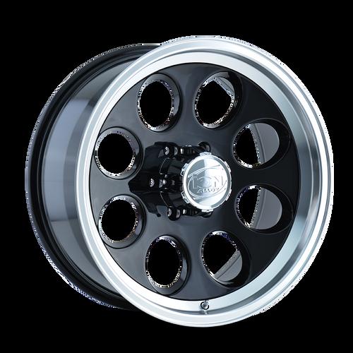 16x8 5x4.5 4.3BS Type 171 Black/Machined Lip - Ion Wheel