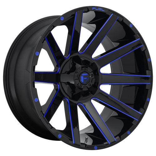 22x12 8x6.5 4.75BS D644 Contra Gloss Milled Blue - Fuel Off-Road