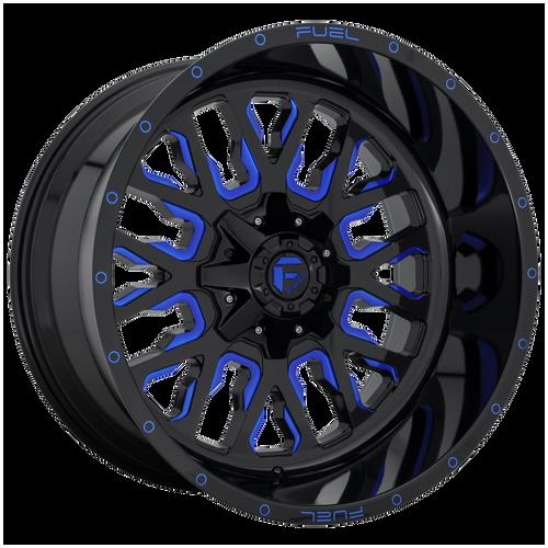 20x10 5x5.5/5x150 4.75BS D645 Stroke Gloss Milled Blue - Fuel Off-Road