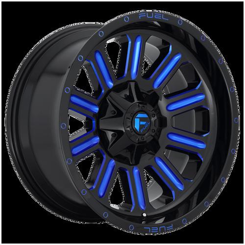 22x12 8x170 4.75BS D646 Hardline Gloss Milled Blue - Fuel Off-Road