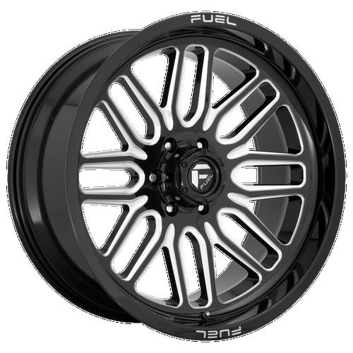 20x10 6x135 4.75BS D662 Ignite Gloss Black Milled - Fuel Off-Road