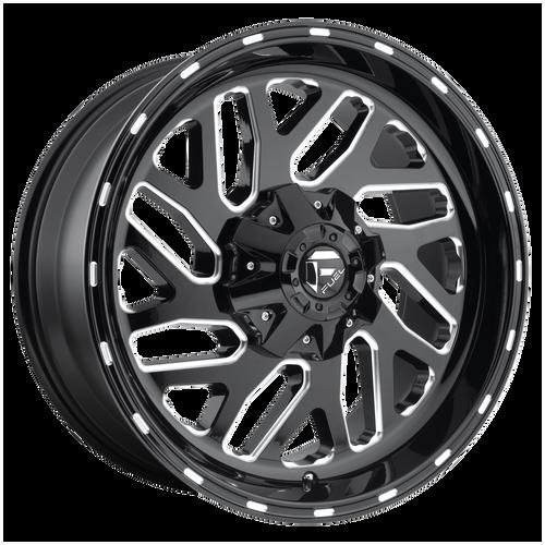 26x12 5x5/5x5.5 4.75BS D581 Triton Gloss Blk Mil - Fuel Off-Road