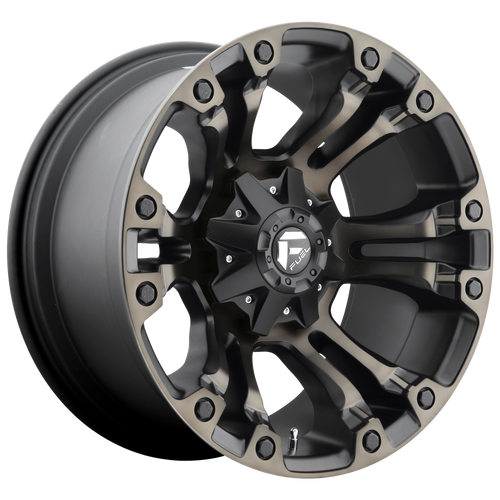 17x9 5x4.5/5x5 5BS D569 Vapor Black/Mach w/ Tint - Fuel Off-Road