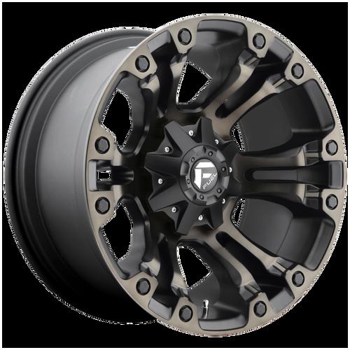 18x9 5x5.5/5x150 5BS D569 Vapor Black/Mach w/ Tint - Fuel Off-Road
