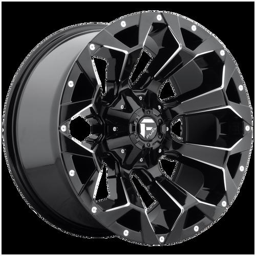 17x9 5x4.5/5x5 5BS D576 Assault Gloss Black Milled - Fuel Off-Road