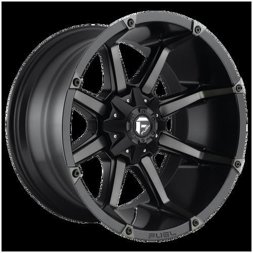 18x9 6x5.5/6x135 5BS D556 Coupler Black Machined - Fuel Off-Road