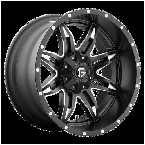 18x9 8x180 5.75BS D567 Lethal Black Milled - Fuel Off-Road