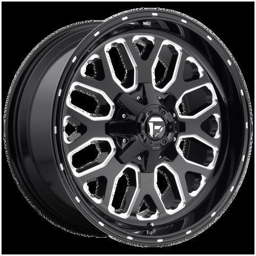 22x10 6x5.5/6x135 4.75BS D588 Titan Black Milled - Fuel Off-Road