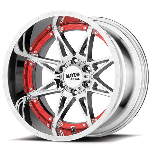 20x9 8x6.5 5.71BS MO993 Hydra Chrome - Moto Metal Wheels