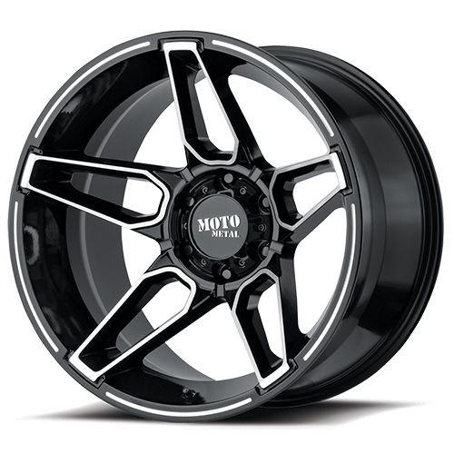 20x10 8x170 4.79BS MO994 Fang Gloss Black Machined - Moto Metal Wheels