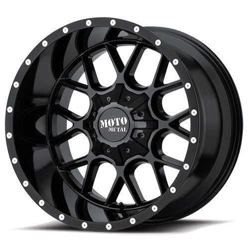 22x10 8x6.5 4.79BS MO986 Siege Gloss Black - Moto Metal Wheels