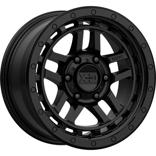 17x8.5 6x5.5 5.46BS XD140 Recon Satin Black - XD Wheels