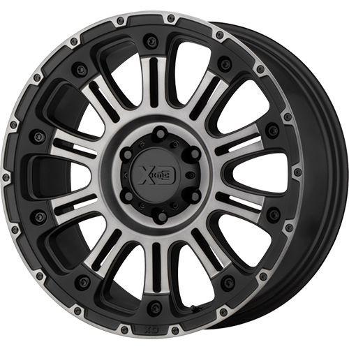 20x14 8x6.5 4.51BS XD829 Hoss II Satin Black Mach w/Grey - XD Wheels