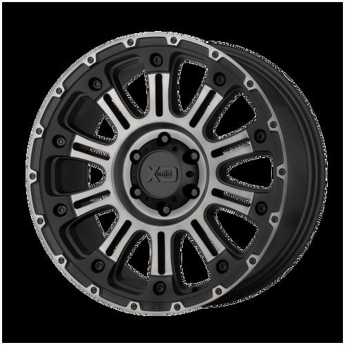 20x9 6x5.5 4.53BS XD829 Hoss II Satin Black Mach w/Grey - XD Wheels