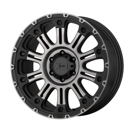 18x9 6x135 5.71BS XD829 Hoss II Satin Black Mach w/Grey - XD Wheels