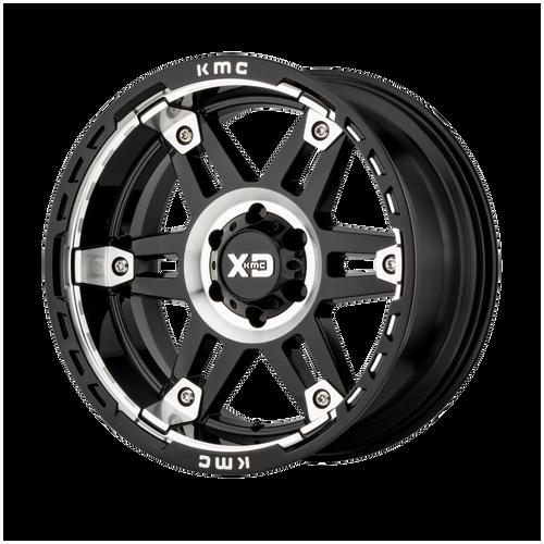 20x10 8x6.5 4.79BS XD840 Spy II Gloss Black Machined - XD Wheels