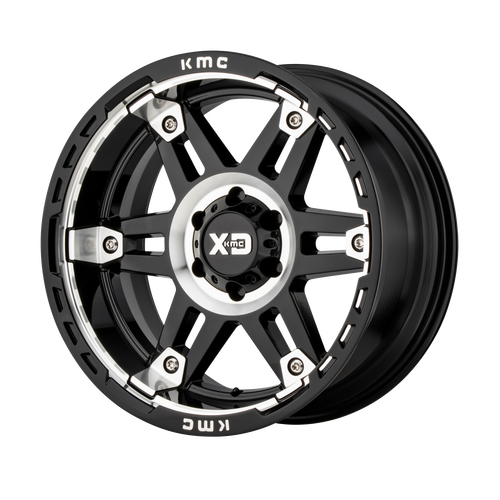 20x9 5x5.5 5BS XD840 Spy II Gloss Black Machined - XD Wheels