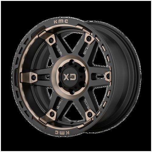 17x8 6x120 5.21BS XD840 Spy II Satin Black w/Dark Tint - XD Wheels