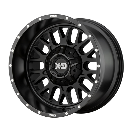 20x9 6x4.5/6x5.5 5.71BS XD842 Snare Satin Black - XD Wheels
