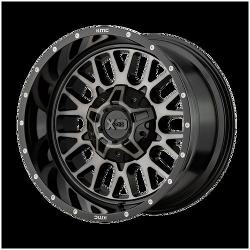 20x9 8x6.5 5BS XD842 Snare Gloss Black w/Grey - XD Wheels