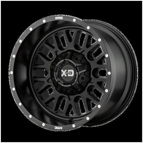 20x9 5x5.5/5x150 5BS XD842 Snare Satin Black - XD Wheels