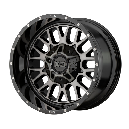 20x9 8x170 5BS XD842 Snare Gloss Black w/Grey - XD Wheels
