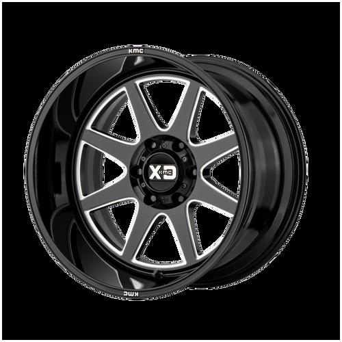22x10 5x5.5 4.79BS XD844 Pike Gloss Black Milled - XD Wheels