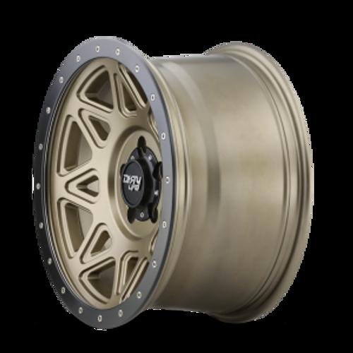 18x9 6x5.5 5BS Theory Matte Gold W/ Matte Black Lip - Dirty Life Wheels