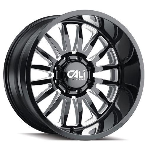 20x10 6x5.5 4.52BS 9110 Summit Gloss Black/Milled Accents - Cali Off Road