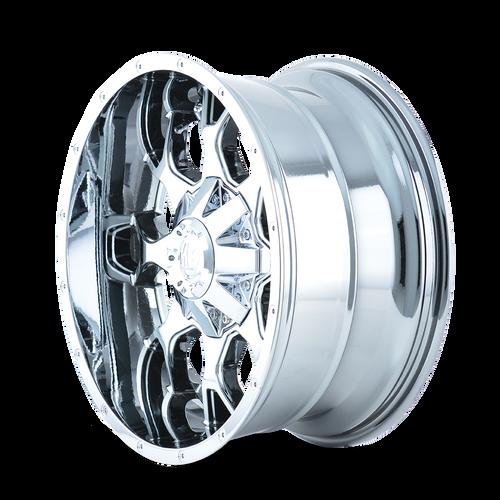 20x10 6x5.5/6x135 4.52BS 8015 Warrior Chrome - Mayhem Wheels