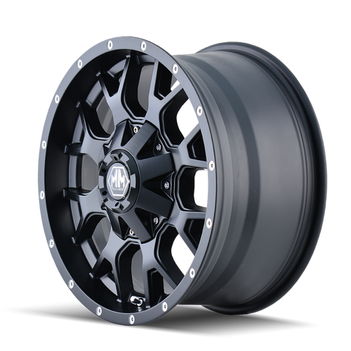 22x12 8x6.5/8x170 4.77BS 8015 Warrior Matte Black - Mayhem Wheels