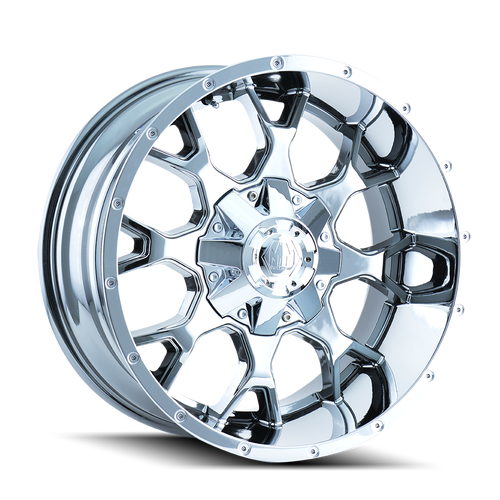 20x9 6x5.5/6x120 5BS 8015 Warrior Chrome - Mayhem Wheels