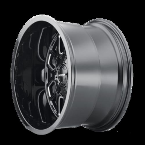 20x9 8x6.5/8x170 5.71BS 8107 Cogent Gloss Black/Milled Spokes - Mayhem Wheels