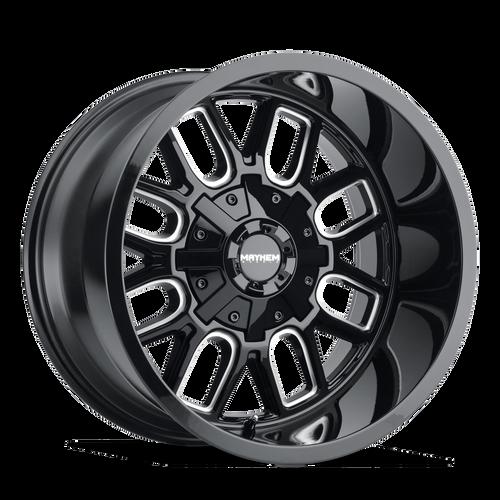 18x9 6x5.5/6x135 5BS 8107 Cogent Gloss Black/Milled Spokes - Mayhem Wheels