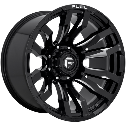 18x9 6x135 5BS D673 Blitz Gloss Black Milled - Fuel Off-Road