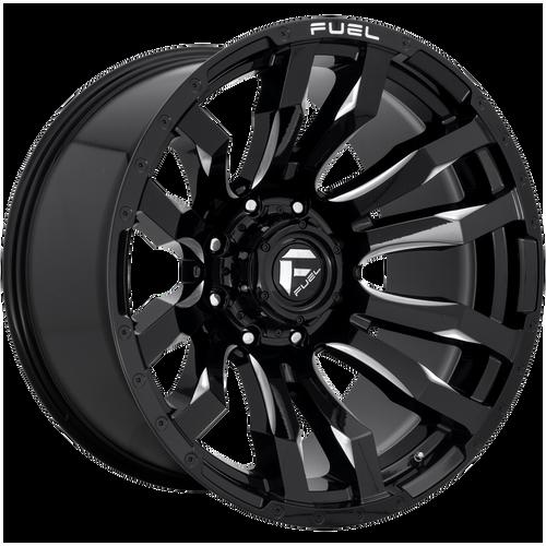 22x10 8x180 4.75BS D673 Blitz Gloss Black Milled - Fuel Off-Road