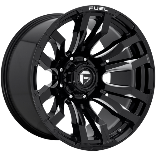 22x12 5x5 4.75BS D673 Blitz Gloss Black Milled - Fuel Off-Road