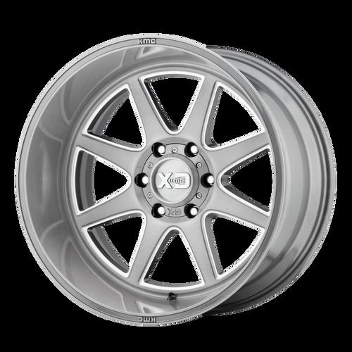 20x10 6x5.5 4.79BS XD844 Pike Titanium Brushed Milled - XD Wheels