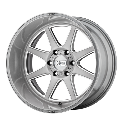 22x10 8x180 4.79BS XD844 Pike Titanium Brushed Milled - XD Wheels
